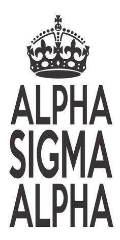 Alpha Sigma Alpha Sorority Crown Keep Calm Sticker Window Laptop Car Decal Vinyl Ipad Iphone on Etsy, $2.99