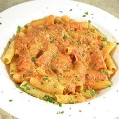 "Easy Vodka Sauce | ""This is a great and simple sauce to make. Tastes delicious over any pasta! I especially love it with lobster ravioli."""