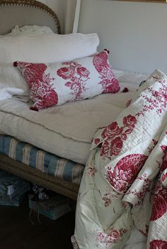 French Country Toile ~ French flea market finds by Trouvais blog