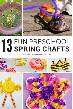 Inside: If you are looking for some fun spring crafts for preschoolers, crafts that encourage exploration, you will love this collection! From flowers to butterflies to weather . these activities will work well at your spring art table. Spring Theme, Spring Art, Spring Crafts, Spring Activities, Craft Activities, Easter Activities, Creative Crafts, Fun Crafts, Creative Kids