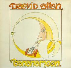 "Daevid Allen: ""Bananamoon"", 1975 studio album cover."