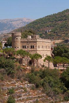 Moussa Castle is a castle between Deir el Qamar and Beit ed-Dine, Chouf Mountains, Lebanon.