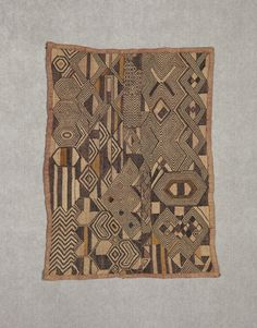 Africa  | Kuba people, DR of Congo | Raffia Textile |