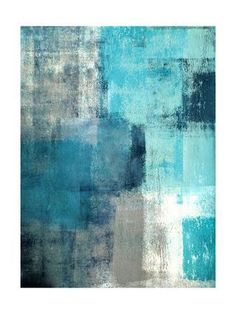 Selected - Modern teal and gray abstract painting , Canvas teal wall art - Wall Art Blue Painting, Painting Prints, Art Prints, Art Paintings, Painting Canvas, Framed Prints, Canvas Prints, Modern Paintings, Abstract Paintings