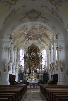 jeou:    the cathedral room of the fürstenfeld abbey in bavaria, germany.