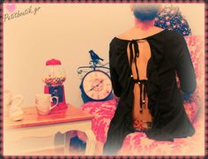 #clothes #frill #back open #black #vintage #girly #romantic #Christmas #love #petitboutik