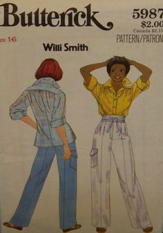 Vintage1980's Butterick 5987 Willi Smith UNCUT by InMySewingRoom, $5.00