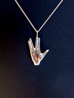 jewelry necklace Star Trek Mr Spock hand