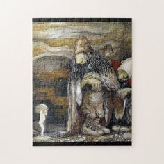 Shop John Bauer Troll Jigsaw Puzzle created by StorybookArt. Buy Mask, John Bauer, Childrens Gifts, Canvas Prints, Art Prints, Faeries, Elves, Troll, Vintage Art