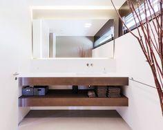 Modern Architecture House, Washroom, Meier, Vanity, Patio, Mirror, Home Decor, Designs, Interiordesign