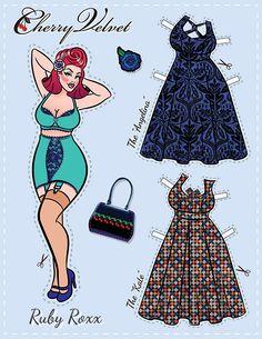 Pin-Up Paper Dolls! | Cherry Velvet | Vintage Inspired Dresses made in Canada