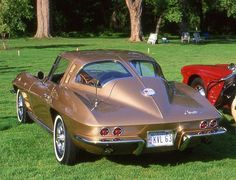 1963 Corvette coupe, had this same one in baby yellow w butterscotch leather seats!!!