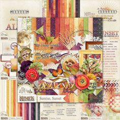 kimeric kreations: Sunrise, Sunset - new this week & an awesome cluster from Chrissy to share....