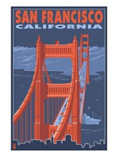 San Francisco, California - Golden Gate Bridge