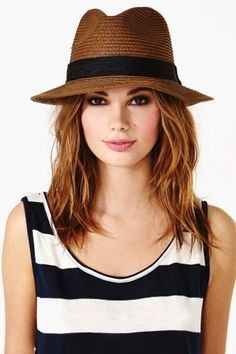 Straw hats in every colour.