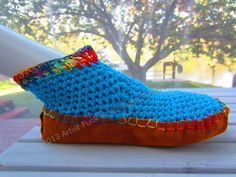 Moccasins Slipper Socks Booties Boho Moccasins by ArtisticFunk, $45.00