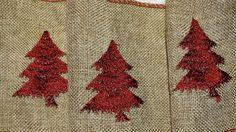 Burlap Merry Christmas Craft Ribbon Folk Art by TheIDconnection, $15.00