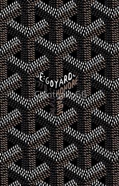 Black Goyard Pattern