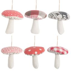 Fabric mushrooms from Sisters Guild in UK.