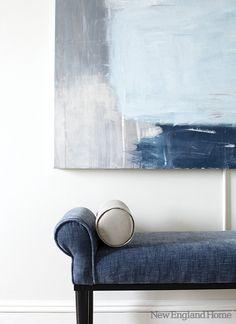 le tableau gris-bleu