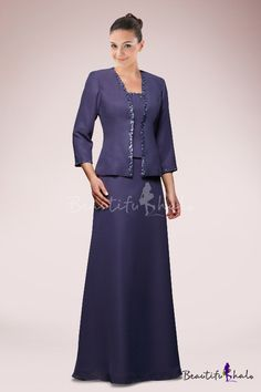Elegant Mother of the Bride Dress with Cropped Jacket