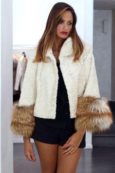 Swakara Lamb & Fox Fur Jacket