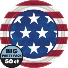 Americana Lunch Plates 50ct