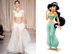 Disney Princesses in Marchesa - Vogue