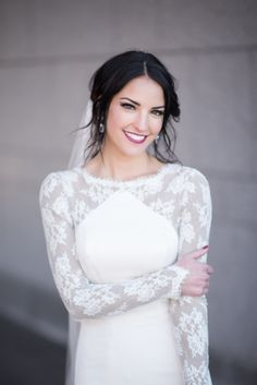 How beautiful is this bride on her big day!