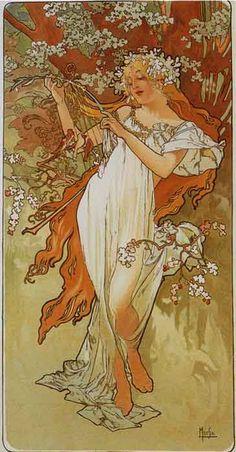 Alfons Maria Mucha (24 de julio de 1860 – 14 de julio de 1939) fue un ilustrador, pintor y artista decorativo checo, ampliamente reconocido por ser uno de los máximos exponentes del Art Nouveau.