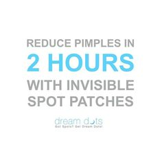 Dream Dots acne patches heal spots, pimples, acne and blemishes in as little as 2 hours preventing future breakouts by creating a second skin like barrier. How To Reduce Pimples, Hormonal Acne, Second Skin, Patches, Dots, Healing, Future, Future Tense