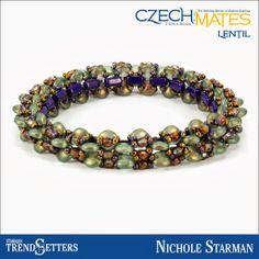 CzechMates Lentil bracelet by Starman TrendSetter Nichole Starman