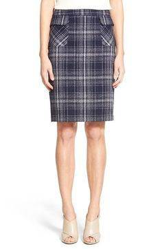 Halogen® Flap Pocket Tweed Pencil Skirt (Regular & Petite) available at #Nordstrom  prefer yellow