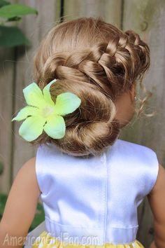 AmericanGirlFan: 3 Ways: Flip Braid Doll Hairstyle!
