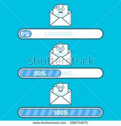 Smile santa claus character of happy new year and merry christmas set of vector downloaders with email cartoon character and text loading progress bar and loading voltagebd Choice Image