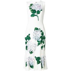 Dolce & Gabbana floral print dress (27.516.555 COP) ❤ liked on Polyvore featuring dresses, white, floral embroidered dress, white floral dress, sleeveless dress, embroidered lace dress and white flower dress