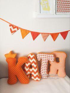 мягкие буквы подушки декор флажки своими руками детская комната декор постер из ткани ткань хлопок идея