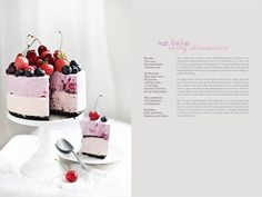 No-bake berry cheesecake and a graduation cake