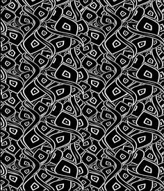 Estampado para camiseta negro con relieve.  #RegalosPersonalizados #RegalosConFoto #Personalizados #CamisetasEstampaciónCompleta #CamisetasPersonalizadas Abstract Designs, Abstract Pattern, Creepy Art, Black And White Design, Fabric Manipulation, White Patterns, Scrapbook Paper, Design Elements, Coloring Books