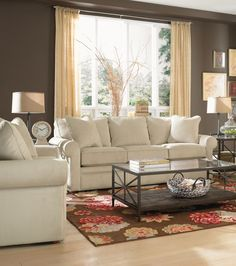 La-Z-Boy Collins Premier Sofa | This sofa brings comfort to any family room. Plus, PIN TO WIN an ottoman! Get contest details at http://houseandhome.com/la-z-boy | #LaZBoy #Sofa #LivingRoom #Furniture