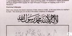 """Students at a Virginia high school were asked to practice writing, """"""""There is no god but Allah. Muhammad is the messenger of Allah."""" ... SCHOOLS CLOSE AFTER 'NO GOD BUT ALLAH' BACKLASH Parents: Islamic indoctrination 'happening right here in our small town'  Read more at http://www.wnd.com/2015/12/schools-close-after-no-god-but-allah-backlash/#UkMEWSr0dqEljm1e.99"""