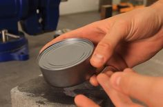 How to Break Open a Can of Food Without a Can Opener « Food Hacks
