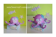 La Tana Creativa - Octopus - Clay - Pottery - Pink - Fish - Ceramic - Sculpture - http://tanacreativa.blogspot.it