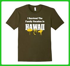 Mens I SURVIVED THE FAMILY VACATION IN HAWAII SOUVENIR T-SHIRT XL Olive - Relatives and family shirts (*Amazon Partner-Link)