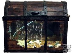 12. #Treasure Chest Fish Tank - 46 Inspiring Fish #Tanks for the Aquatic #Lover in You ... → #Lifestyle #Chest