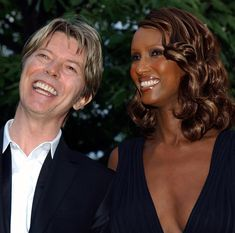 LONDON - JULY 9:  Singer David Bowie and his wife Iman attend the Serpentine Gallery Summer Party at the Serpentine Gallery in Kensington Gardens July 9, 2002 in London, England.  (Photo by John Li/Getty Images)  via @AOL_Lifestyle Read more: http://www.aol.com/article/2016/01/11/david-bowie-and-iman-had-a-storybook-romance-for-25-years/21295537/?a_dgi=aolshare_pinterest#slide=3765344
