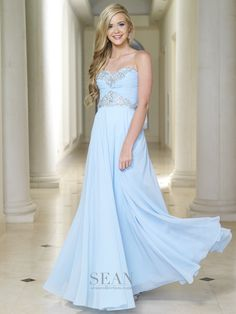 Sean Collection 50668 Sky Prom Dress