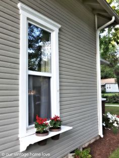 Our Vintage Home Love: DIY Window Boxes-maybe for front porch window?
