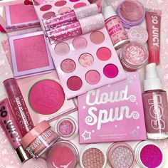 Pink overload 💖 fave pink products from @colourpopcosmetics @fourthraybeauty @solbody - @colourpoptrend Pastel Makeup, Pink Makeup, Cute Makeup, Makeup Inspo, Makeup Tips, Beauty Makeup, Makeup Products, Beauty Products, Makeup Artist Kit