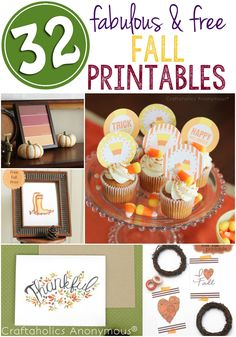 Craftaholics Anonymous® | Fabulous Free Fall Printables